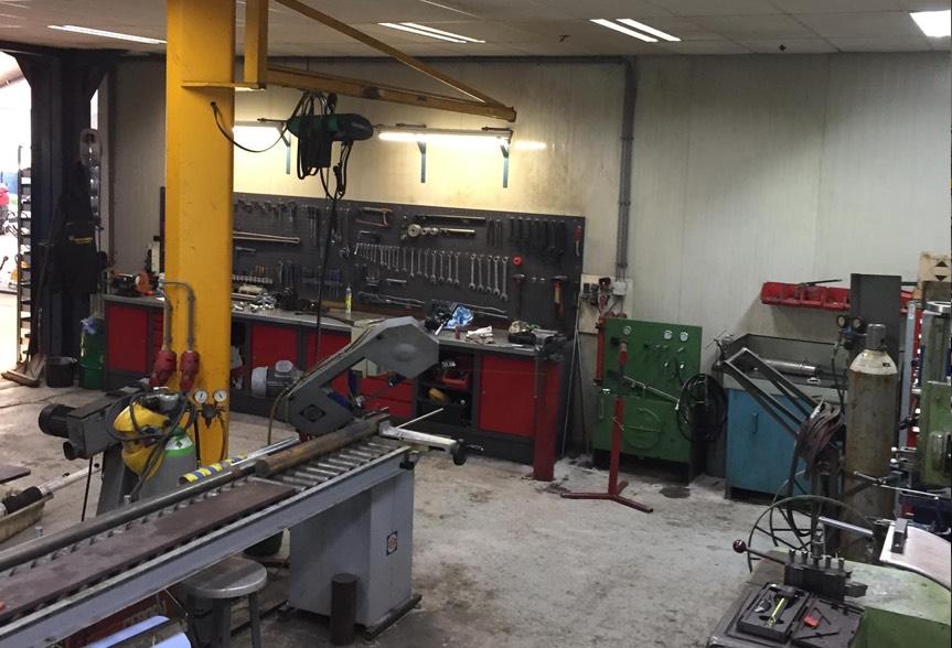 Vos Mechanisatie werkplaats